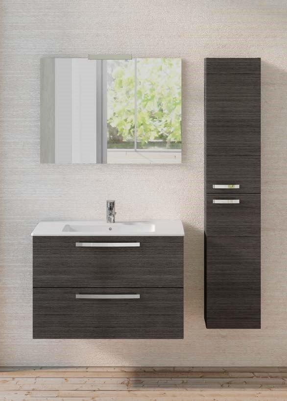 Dolomite gemma2 mobile bagno sospeso 80cm rovere grigio - Mobili bagno ideal standard ...