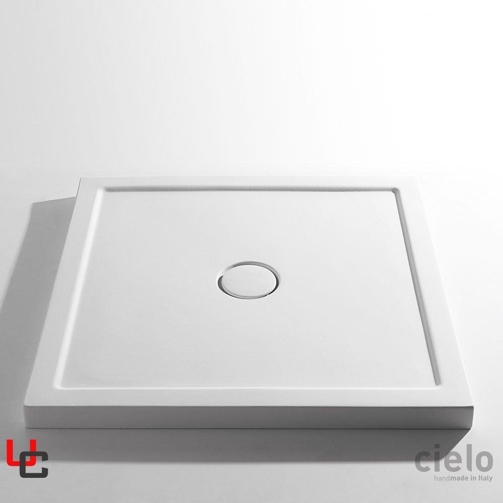 Piatto Doccia In Ceramica.Ceramica Cielo Serie Sessanta Piatto Doccia 80x80 H 6cm Piletta Inclusa
