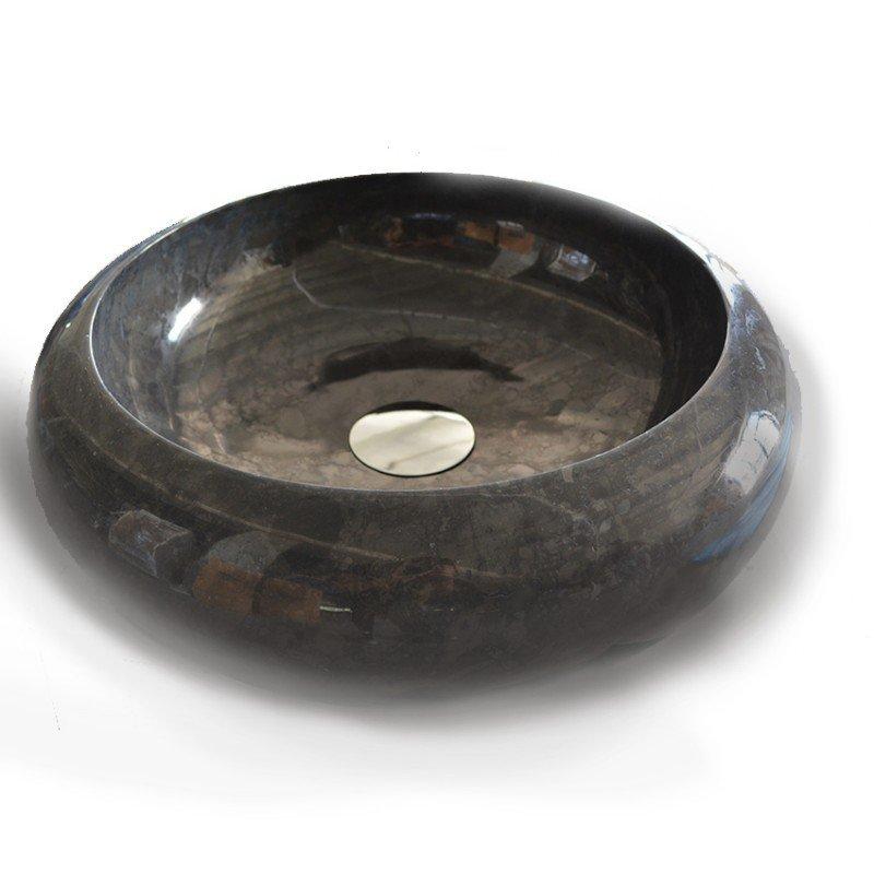 D 39 annunzio lavabo in marmo nero 40cm universo ceramiche for Bagno d annunzio