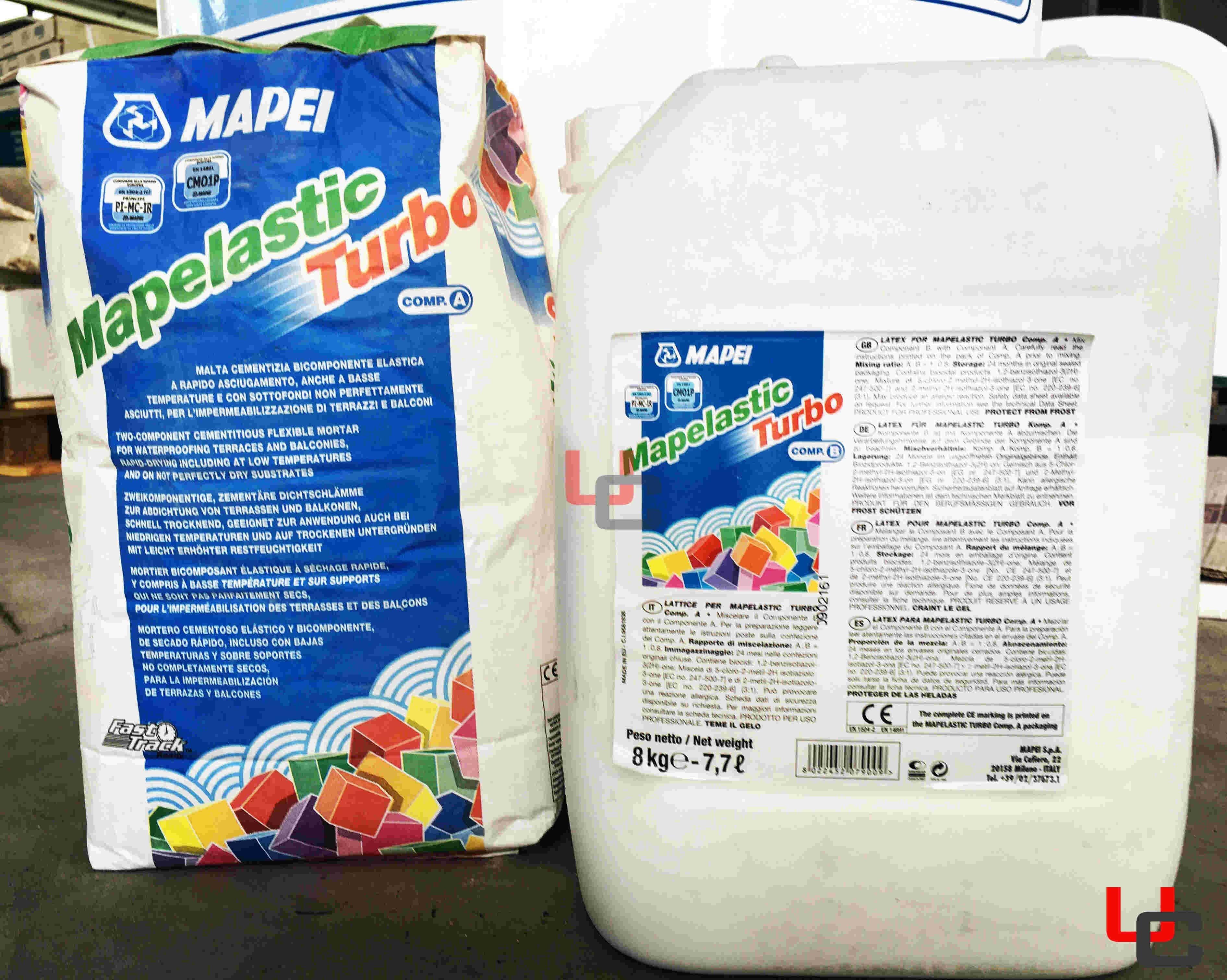 Mapei Mapelastic TURBO A+B 18kg impermeabilizzante rapido anche a ...