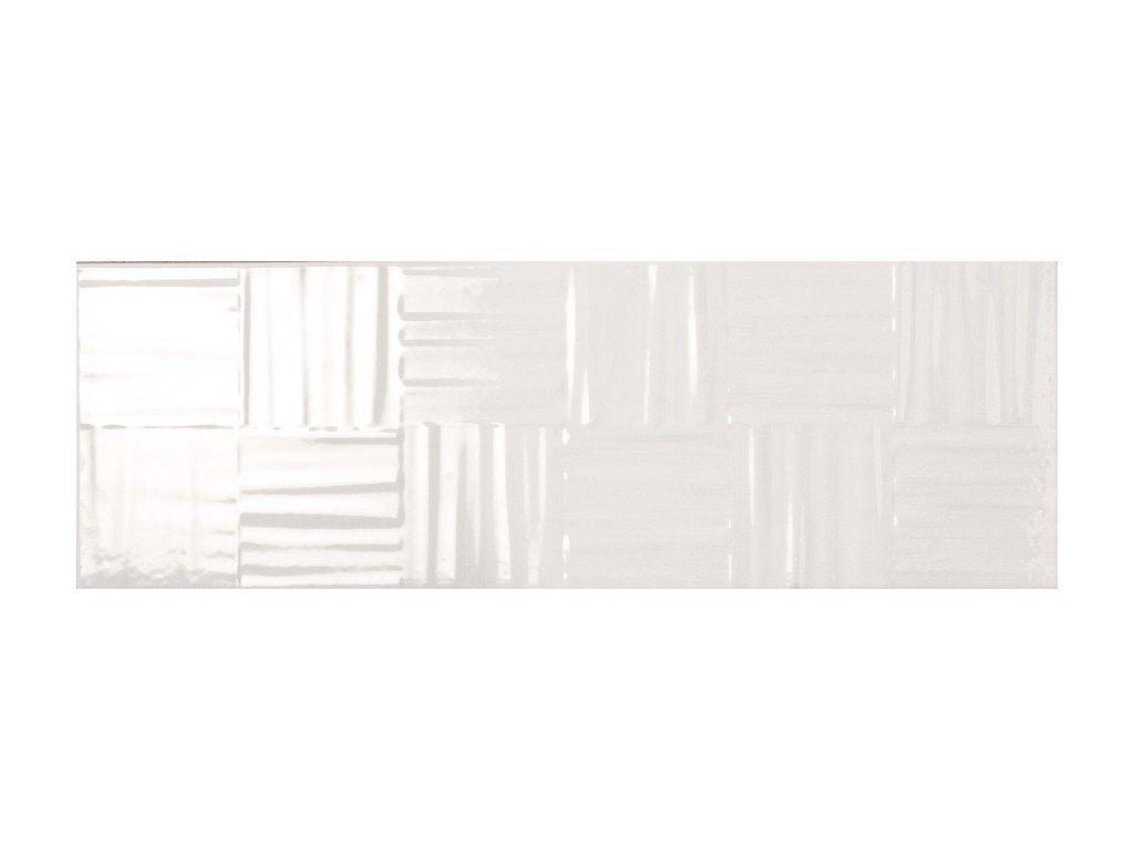 La fenice serie lumina intreccio bianco 25×75 universo ceramiche