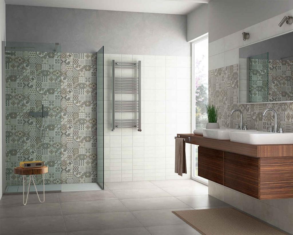 Idea ceramica serie zen juko decoro 20 60 cod ze400 universo ceramiche - Composizione piastrelle bagno ...