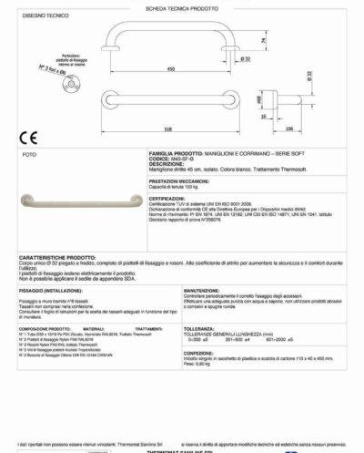 Accessori Bagno Disabili Thermomat.Thermomat Kit Completo Per L Allestimento Di Bagni Per Disabili A Norma Secondo Il Dm N 236 89