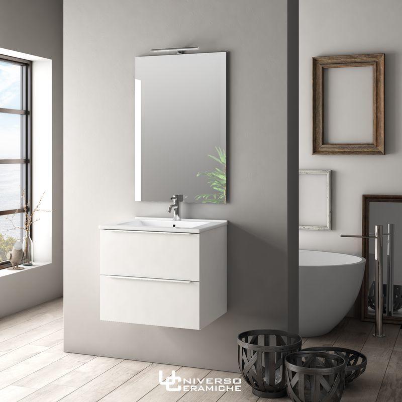 Composizione Lara 60cm Bianco Lucido - Mobile Bagno
