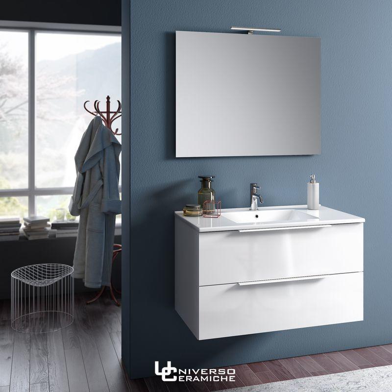 Composizione Lara 80cm Bianco Lucido - Mobile Bagno