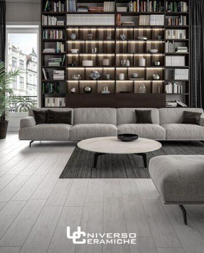 Idea Ceramica Serie Oak White 20 90 Gres Porcellanato Effetto Legno