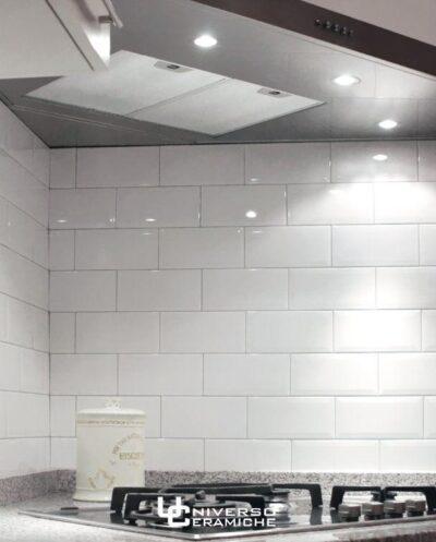 Rivestimento Metro 7 5 15 Diamantato Bianco Lucido Universo Ceramiche