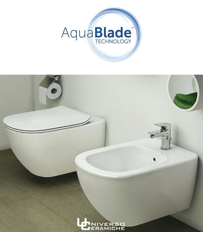 Ceramica Ideal Standard Sanitari.Ideal Standard Serie Tesi Sanitari Sospesi Aquablade Completi Con Coprivaso Frizionato